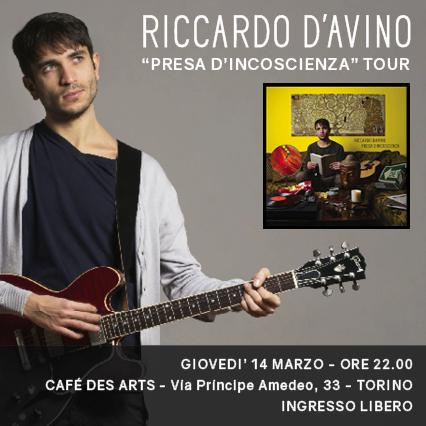 Live @Cafè Des Arts, Torino – 14 marzo