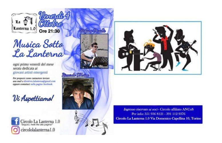 "Live @La Lanterna 1.0 per ""Musica Sotto La Lanterna"" – Venerdì 4 ottobre"